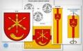 Gmina Obsza ma herb, flagę ipieczęć