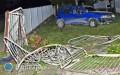 Straciła panowanie nad autem istaranowała ogrodzenie