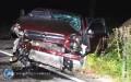 Pijany kierowca uderzył wbetonowy przepust