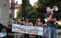 Protest rodzic�w przed Urz�dem Miasta