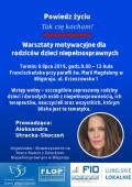 """Warsztaty motywacyjne zAleksandrą Utracką-Skoczeń - autorką książki """"Tak Cię kocham"""" - przeniesione na inny termin"""