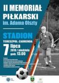II Memoriał piłkarski im. Adma Olszty
