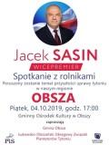 Jacek Sasin spotka się zrolnikami